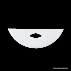 Agitador PTFE borde en punta. ancho 75mm. alto 25 mm (no incluye varilla)