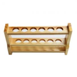 Gradilla de madera 18-20 mm. 6 posiciones