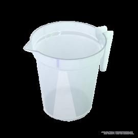 Jarro plastico polipropileno grad. con asa 1000 ml : 10 ml