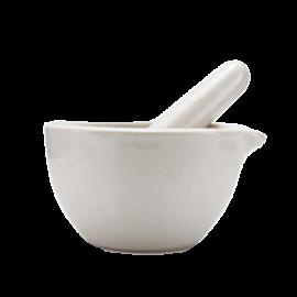 Mortero fondo rugoso economico 80 mm diametro. vol 50 ml