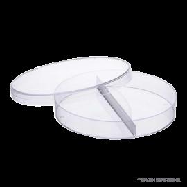 Placa petri plastica 90 mm. ESTERIL. TWO SECTOR caja de 500 unds
