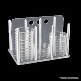 Rack para 60 placas petri 90 mm