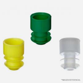 Tapa plastica 12 mm. color VERDE. precio unitario. Unidad de despacho. bolsa con 250 unidades