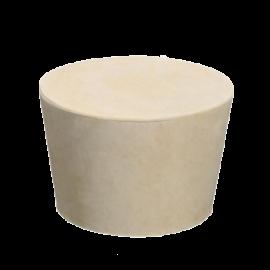 Tapon goma solida 000: 12.5x8x17 (476 unid x kilo). color rojo