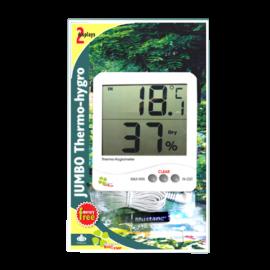 Termohigrometro digital. -50 a +70 C. 20-99 HR. max y min. tipo Jumbo