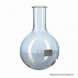 Matraz balon f/redondo grad. 500 ml