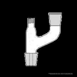 Cabezal destilación con tapa rosca. macho y hembra NS19/26 no incluye tapa