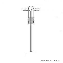 Cabezal frasco lavador Largo 185 mm. NS 29/32 sin frita de vidrio