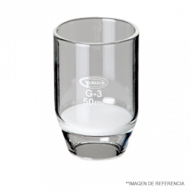 Crisol filt. 50 ml. poro. 3