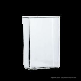 Cubeta cromatografica. medidas externas 210 mm largo x 105 mm ancho x 210 mm alto
