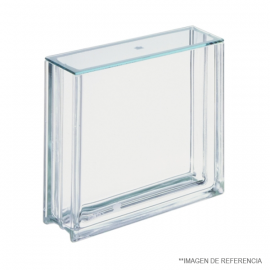 Cubeta cromatografica TLC para placas de 20x20. medidas externas 295 mm largo x 95 mm ancho x 265 mm alto. con tapa