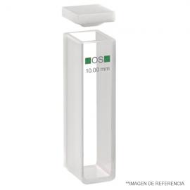 Cubetas de vidrio. 10 mm paso luz. alt 45 mm. 3.5 ml