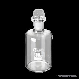 Frasco DBO según Winkler. 250 - 300 ml con volumen exacto y tapón de vidrio