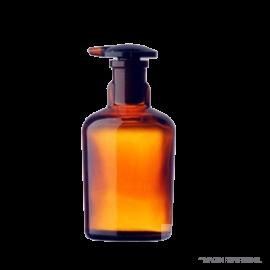 Frasco Gotario. 100 ml. ambar tapon