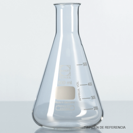Matraz erlenmeyer angost grad. 125 ml
