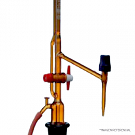 Bureta automatica. ambar. 10 : 0.02 ml Con llave intermedia. AS. sin frasci. s/ pera