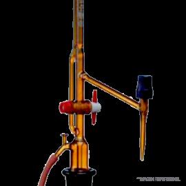 Bureta automatica. ambar. 50 : 0.1 ml Con llave intermedia. AS. sin frasci. s/ pera