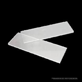 Portaobjeto de cuarzo transp 50x25mm