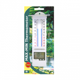 termómetro de máxima y mínima sin mercurio. panel digital electrónico