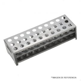 Gradilla de Aluminio.30 posiciones.15.5mm diam