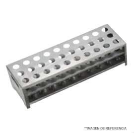 Gradilla de Aluminio.40 posiciones. 20.5mm dia