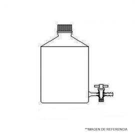 Frasco de vidrio con llave inferior ptfe de soldadura directa 2000 ml