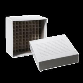 """Caja criogenica cardboard, 2"""" y 100 posiciones , -196 a temperatura ambiente, color blanco"""