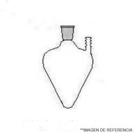 Matraz corazon 100 ml. NS 19/26 con oliva lateral