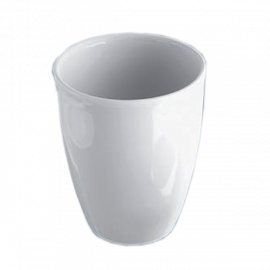 Crisol de porcelana economico. 40 ml. 48 mm diam x 42 mm alto