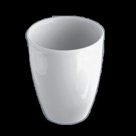 Crisol de porcelana economico. 50 ml. 53 mm diam x 46 mm alto