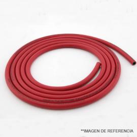 Manguera de goma color rojo p/ transporte de gasea a baja presion. Minimo 5 mt.. 8X12 mm