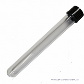 Tubo ensayo 25*150mm con tapa rosca pp Boro 3.3