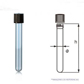 Tubo Cultivo T. rosca. 16x160 mm. AR. GL18. 20 ml