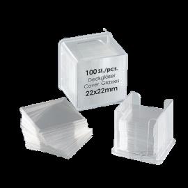 Cubreobjeto cuadrado 20x20 mm (100 un.)